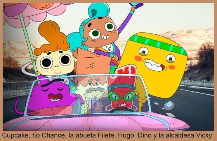 Cupcake y Dino personajes de la serie