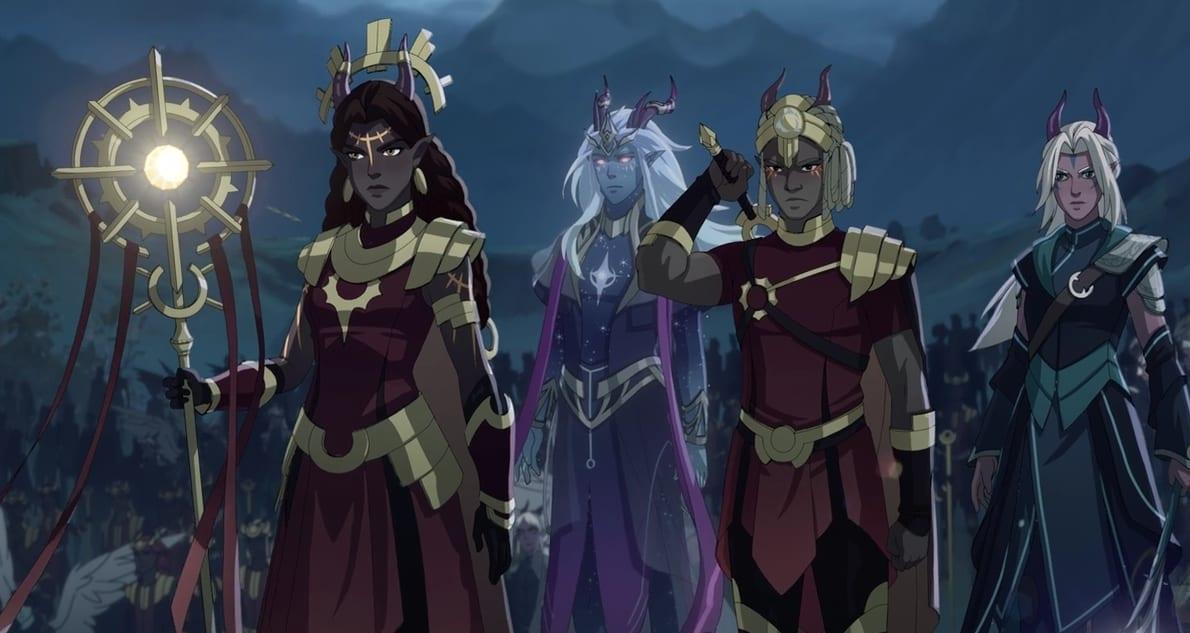 Serie el príncipe dragón Elfos