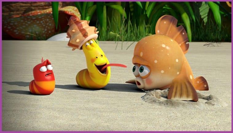 Larva, Aventuras en la isla Netflix