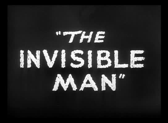 """Titulo de la película """"El hombre invisible"""""""