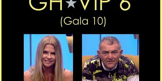 Esta noche Gala 10 de GH VIP 6 (15 de noviembre)