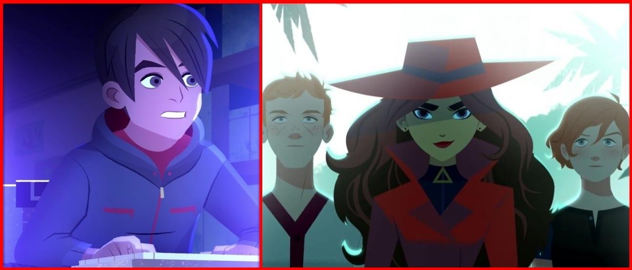 Carmen Sandiego el jugador, Zack, Carmen, Ivy