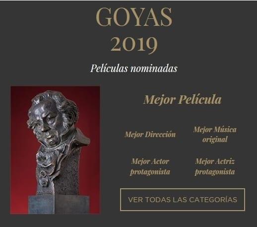 Premios Goya nominaciones