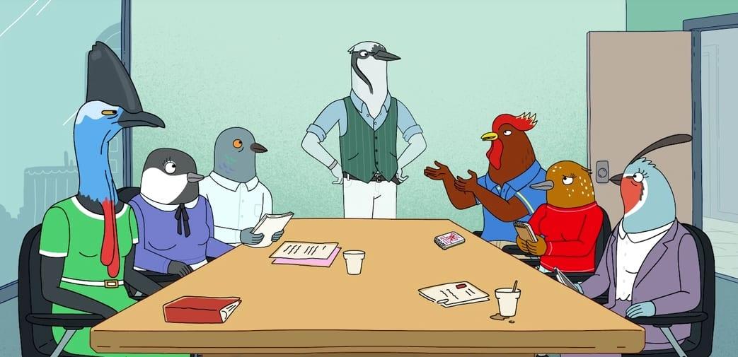 Tuca y Bertie, Bertie con sus compañeros de trabajo