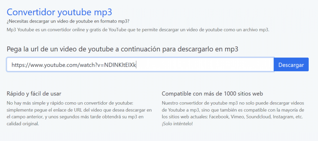 descargar musica de youtube