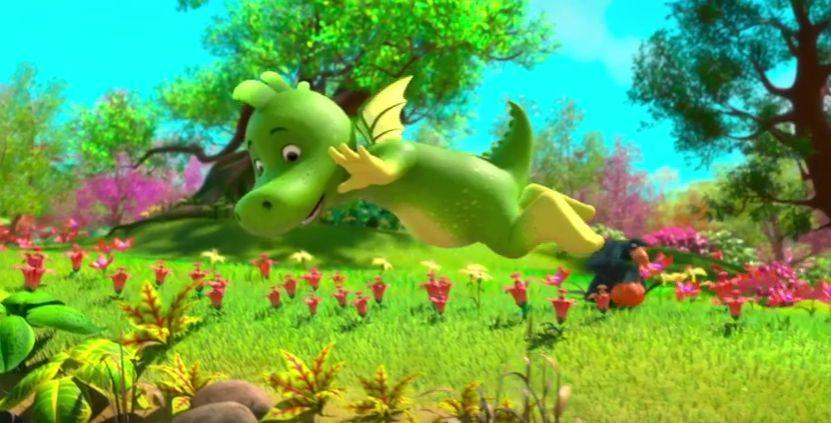 Tabaluga y la princesa de hielo, el dragon