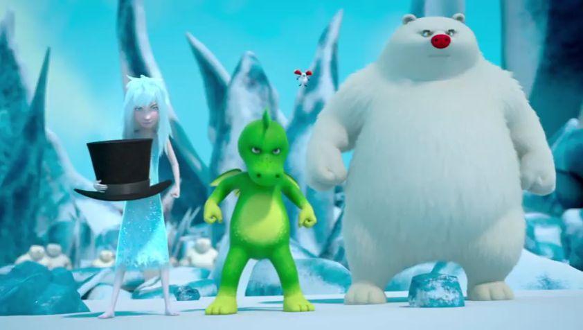 Tabaluga y la princesa de hielo, preparados para salvar su hogar