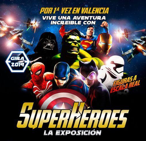 Exposición de superhéroes en Valencia