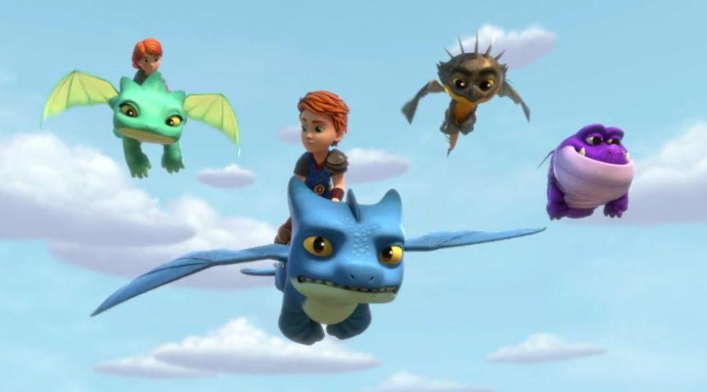 Dragones al rescate, serie animación