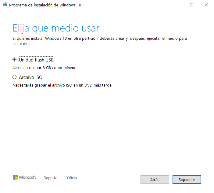 hacer un usb con Windows 10