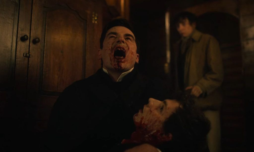 Drácula con una de sus víctimas